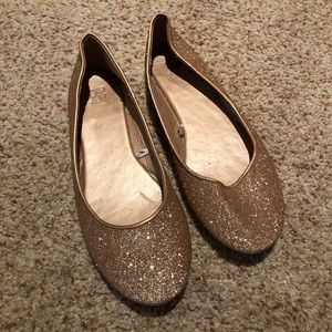 Rose Gold Glitter Slippers
